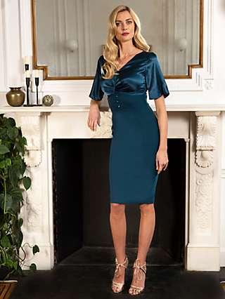 HotSquash Emma Button Waist Pencil Dress