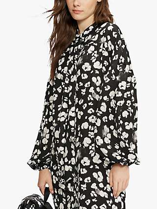 Ted Baker Wilmy Abstract Floral Print Midi Dress, Black/Multi
