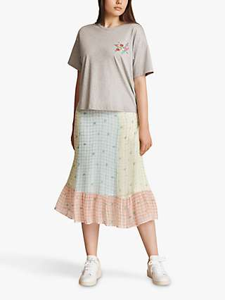Ghost Freya Check Midi Skirt, Blue/Multi