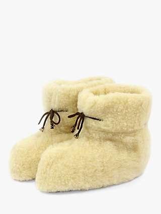HotSquash Tie Wool Slipper Boots