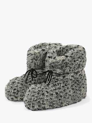 HotSquash Tie Wool Slipper Boots, Grey