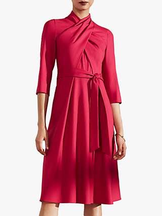 The Fold Mirabello Wool Crepe Dress, Pink