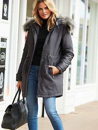 Sosandar Parka Coat, Grey