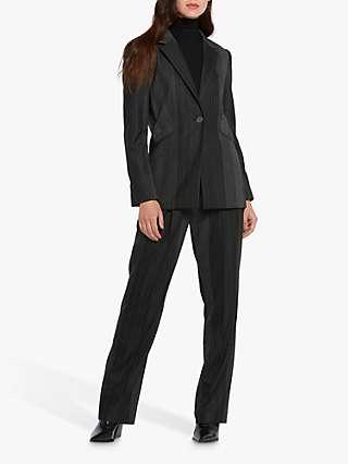 Helen McAlinden Willow Striped Blazer, Grey