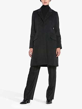 Helen McAlinden Lisa Wool Blend Tailored Coat, Charcoal