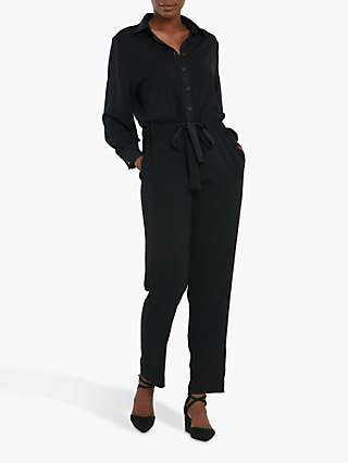 Helen McAlinden Peggy Button Jumpsuit, Black