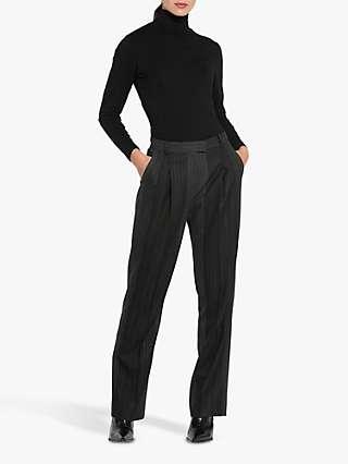 Helen McAlinden Sophie Stripe Trousers, Grey