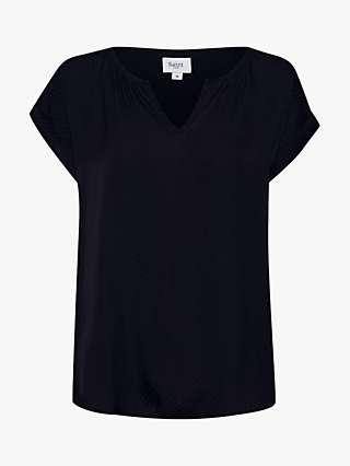 St Tropez Briana Jacquard Short Sleeve Top