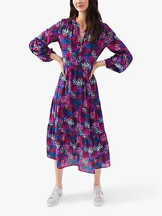NRBY Gemma Silk Midi Dress, Multi