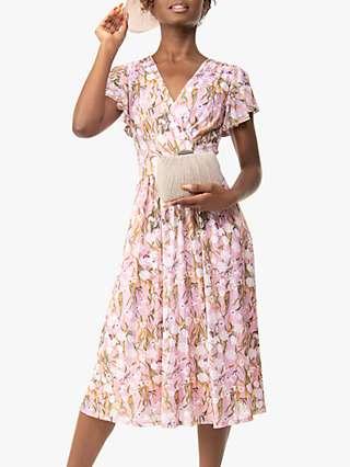 Jolie Moi Stacy Wrap Dress, Light Pink