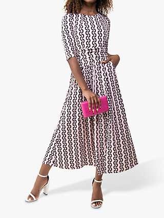 Jolie Moi Pauline Geometric Print Maxi Dress, Pink