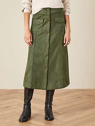 Monsoon Suedette Midi Skirt