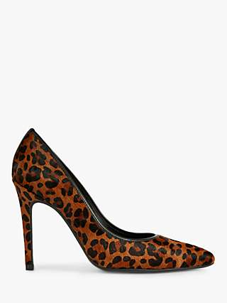 Ted Baker Malyk Leopard Print Court Shoes, Brown