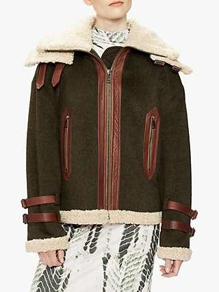 Ted Baker Aviator Jacket, Khaki