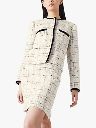 L.K.Bennett Silvia Tweed Mini Skirt, Cream