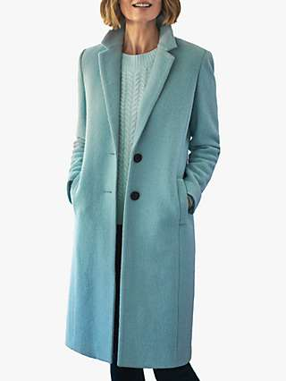 Pure Collection Boiled Wool Knee Length Coat