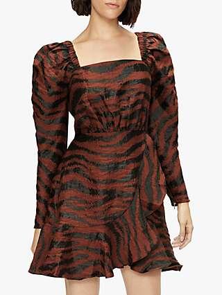 Ted Baker Brodii Animal Print Dress, Brown