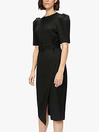 Ted Baker Popieyd Asymmetric Hem Midi Dress, Black