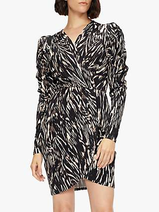 Ted Baker Tilly Abstract Print Mini Dress, Black/Multi