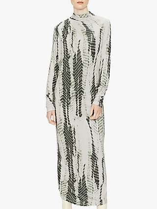 Ted Baker Kyliea Abstract Print Maxi Dress, Green/Multi