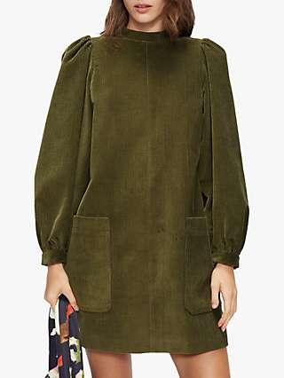 Ted Baker Xavia Cord Mini Dress, Khaki
