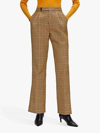 Ted Baker Eeliset Straight Leg Check Trousers, Multi