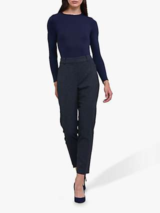 Helen McAlinden Leona Wool Blend Trousers, Navy