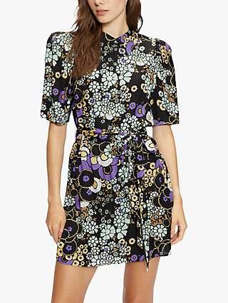 Ted Baker Saskiie Floral Mini Dress, Black/Multi