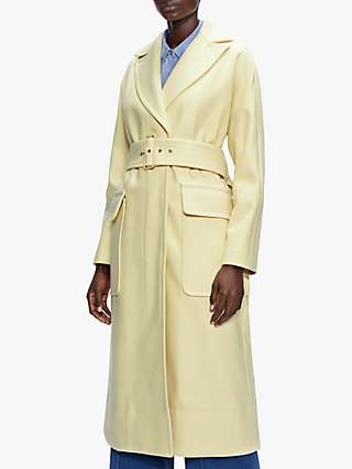 Ted Baker Ttessaa Wool Blned Trench Coat, Light Yellow