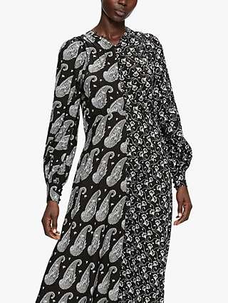 Ted Baker Baylie Paisley Floral Print Dress, Black