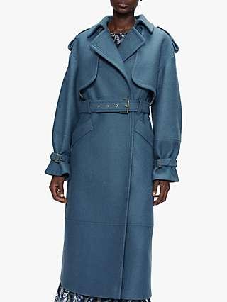 Ted Baker Liiliey Wool Coat, Mid Blue