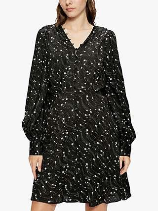 Ted Baker Gemmi Star Print Dress, Black