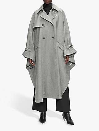 Ted Baker Wendiyy Double Breasted Coat, Dark Grey