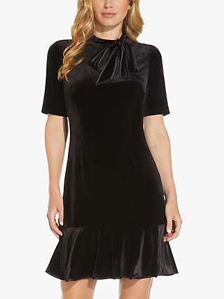 Adrianna Papell Curve Stretch Velvet Dress, Black
