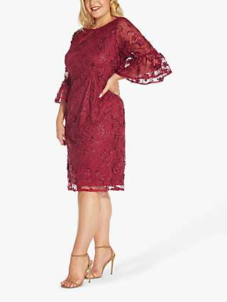 Adrianna Papell Curve Sequin Dress, Red