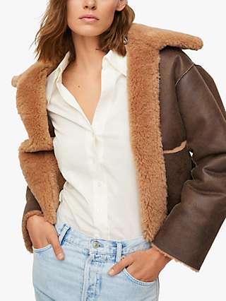 Mango Splash Reversible Faux Fur Jacket