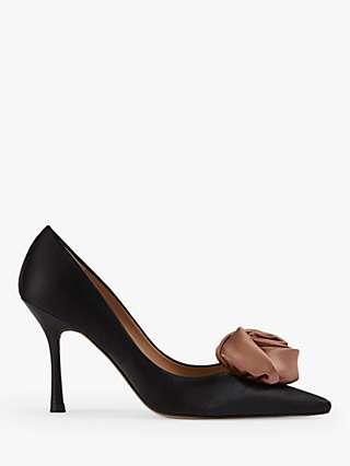 L.K.Bennett Rosa Pointed Toe Court Shoes, Black