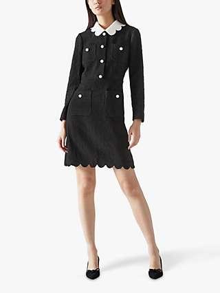 L.K.Bennett Venice Tweed Dress, Black