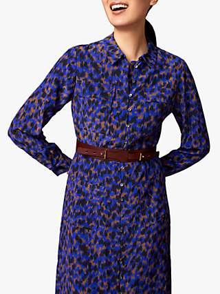 The Fold Maida Vale Silk Shirt Dress, Blue