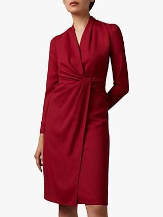 The Fold Greenwich Draped Waist Dress, Red