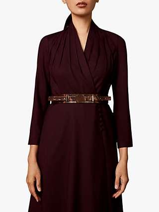 The Fold Battersea Wool Crepe Dress, Plum