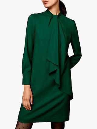 The Fold Farringdon Draped Neck Dress, Green
