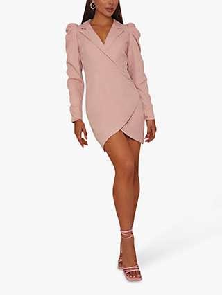 Chi Chi Puff Mini Dress, Pink