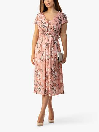 Jolie Moi Vivianna Floral Print Midi Dress