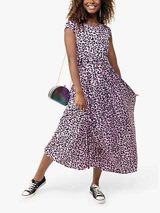 Jolie Moi Karlee Leopard Print Maxi Dress