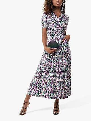 Jolie Moi Molly Floral Print Maxi Dress, Purple