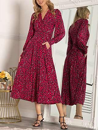 Jolie Moi Vivian Floral Print Maxi Dress, Navy