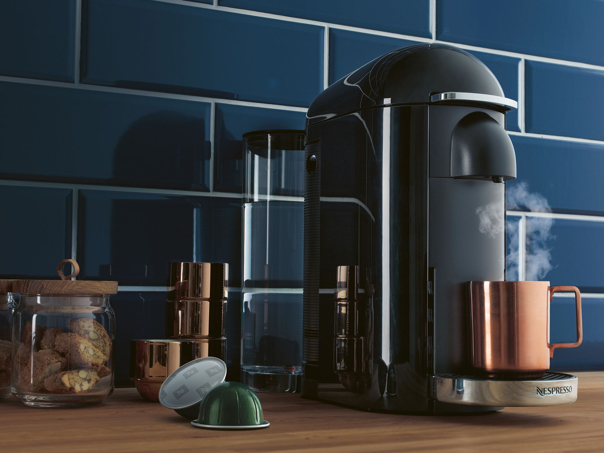Coffee machine in kitchen