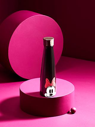S'ip by S'well Disney Minnie Mouse Bow Vacuum Insulated Drinks Bottle, 440ml, Black/White