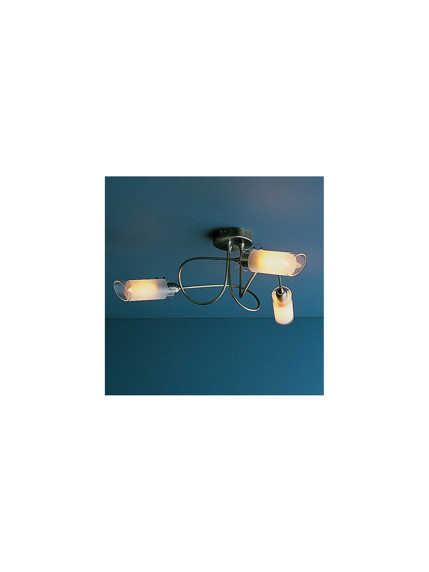 BuyJohn Lewis & Partners Limbo 3 Arm Ceiling Light, Antiqued Brass Online at johnlewis.com